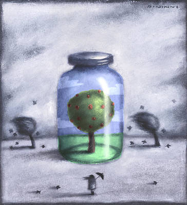 Painting - Tree In Jar by Steve Dininno