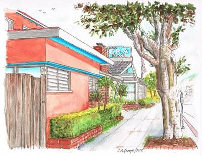 Tree In Laguna Riviera Hotel In Laguna Beach - California Art Print