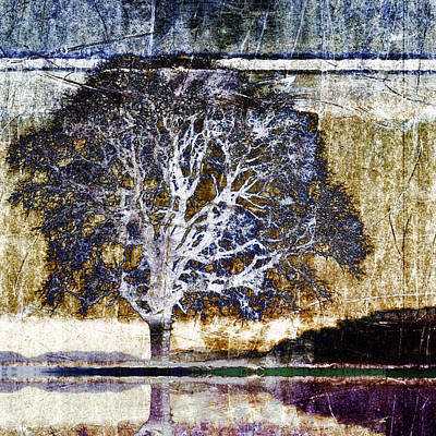 Montage Photograph - Tree In Metal by Carol Leigh