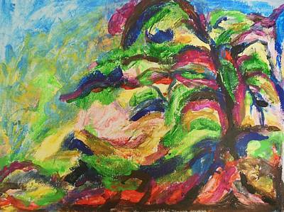 Painting - Tree In Motion by Esther Newman-Cohen