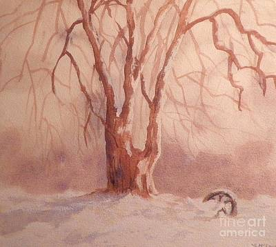 Tree In Snow Art Print by Suzanne McKay