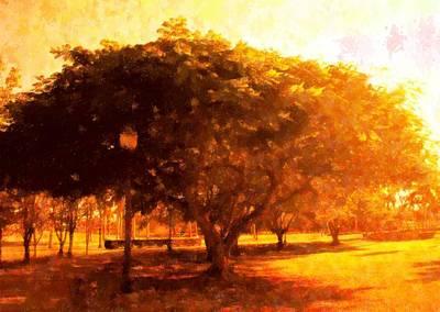 Tree In The Park Original by Florene Welebny