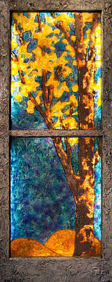 Mixed Media - Tree Inside A Window by Christopher Schranck