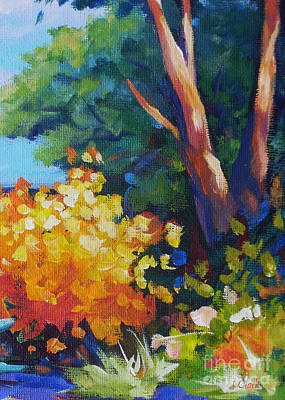 Vivid Colour Painting - Tree by John Clark