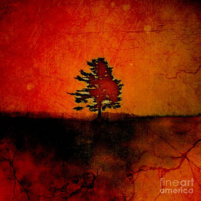 Orange Digital Art - Tree Journey - Sp22at02 by Variance Collections