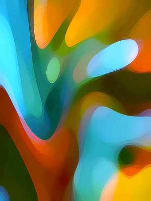 Abstract Forms Painting - Tree Light 3 by Amy Vangsgard