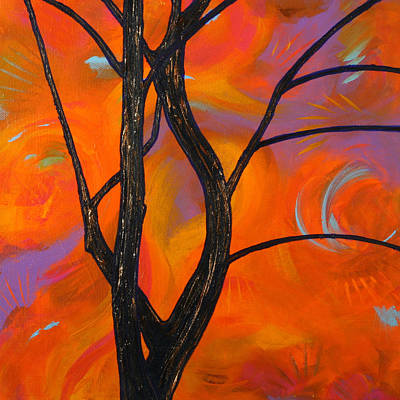 Painting - Tree Limbs At Sunset by Julianne Hunter