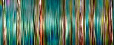 Abstract Digital Art - Tree Line by Az Jackson