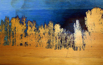 Mixed Media - Tree Line Mixed Media Photography by Ann Powell