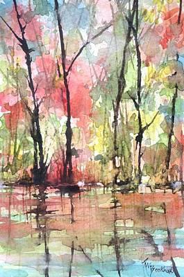 Tree Line Reflections Art Print