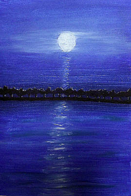 Painting - Tree Lined Breakwater by Sandy Wager
