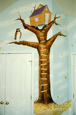 Painting - Tree Mural by Stacy C Bottoms