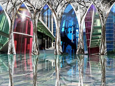 Convention Digital Art - Tree Museum by Leslie Kell