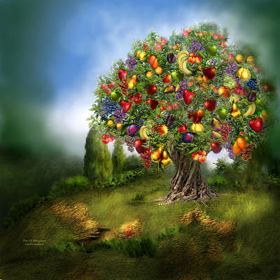 Strawberry Mixed Media - Tree Of Abundance by Carol Cavalaris