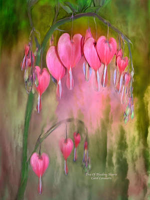 Mixed Media - Tree Of Bleeding Hearts by Carol Cavalaris