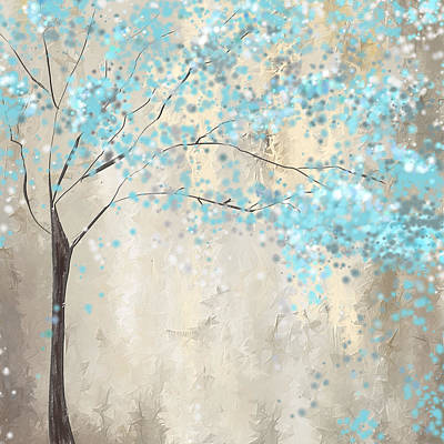 Tree Of Blues Art Print by Lourry Legarde