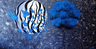 Tree Of Butterflies Art Print by Oddball Art Co by Lizzy Love