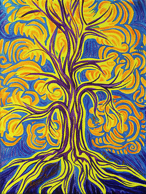 Painting - Tree Of Happiness by Lola Lonli