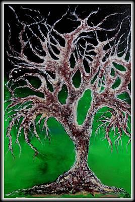 Creepy Mixed Media - Tree Of Haunted Souls by Madison Frasier
