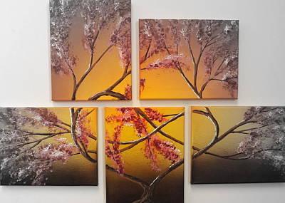 Asian Art Mixed Media - Tree Of Infinite Love Spotlighted by Darren Robinson