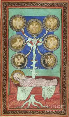 Tree Of Jesse, 12th Century Art Print by British Library