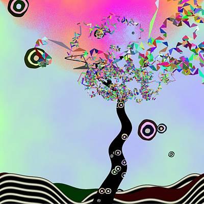 Tree Of Jim Morrison Art Print by GuoJun Pan