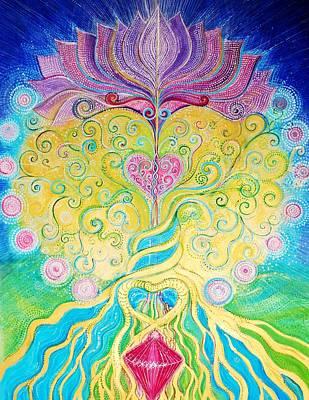 The Universe Painting - Tree Of Life by Agnieszka Szalabska