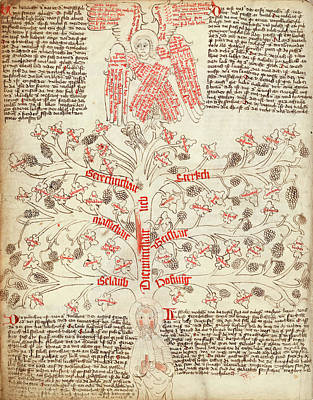 Vellum Photograph - Tree Of Life Allegory by Library Of Congress