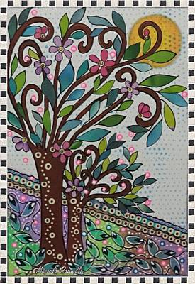 Fruit Tree Art Painting - Tree Of Life And Knowledge by Micaela Pazuello Mica