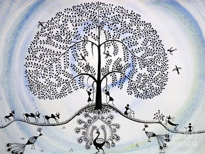 Tree Of Life Art Print by Anjali Vaidya