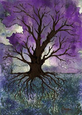 Cosmic Painting - Tree Of Life by Brazen Design Studio