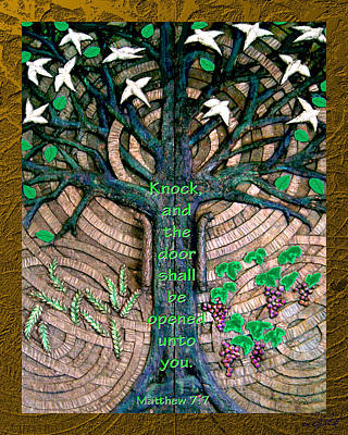 Photograph - Tree Of Life Bronze Chapel Doors by Michele Avanti