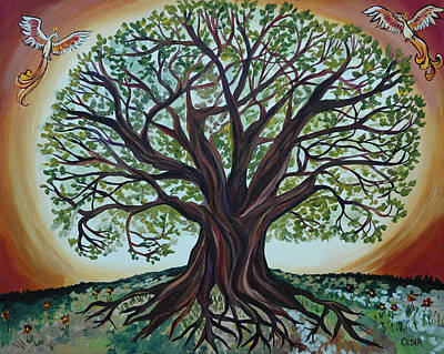 Tree Roots Painting - Tree Of Life by Cedar Lee