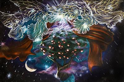 Night Angel Mixed Media - Tree Of Life by Christine Maeda