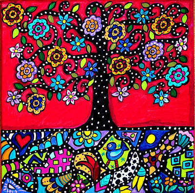 Tree Roots Painting - Tree Of Life Eternal Roots by Tori Radford