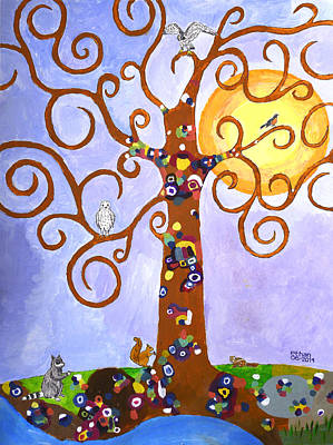 Gustav Klimt Tree Of Life Art Print by Ethan Altshuler
