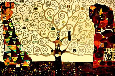 Byzantine Painting - Tree Of Life by Henryk Gorecki