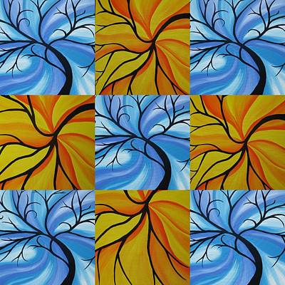 Living With Joy Painting - Tree Of Life Kaledoscope by Cathy Jacobs
