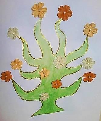 Tangerines Mixed Media - Tree Of Life by Karen Jensen