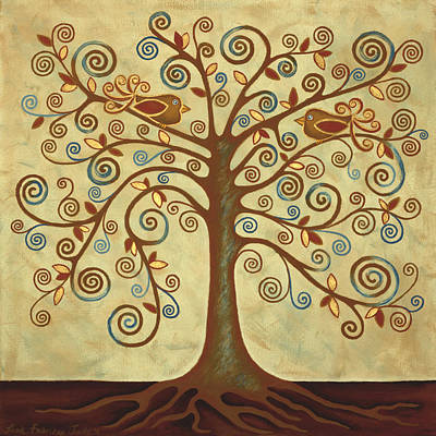 Tree Roots Painting - Tree Of Life by Lisa Frances Judd