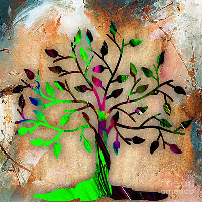 Leaves Mixed Media - Tree Of Life by Marvin Blaine