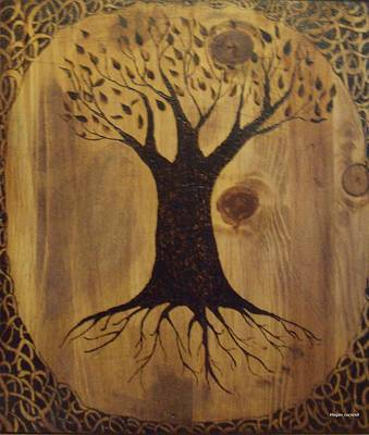 Pyrography Pyrography - Tree Of Life by Megan Cockrell