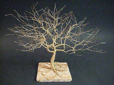 Tree Of Life Sculpture In Wire Art Original by Ken Phillips