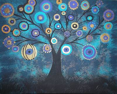 Tree Of Lights Art Print by Tina Murray