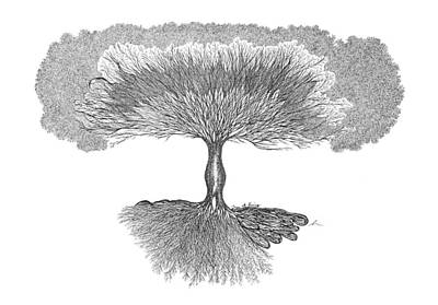 Drawing - Tree Of Living by Andrea Currie