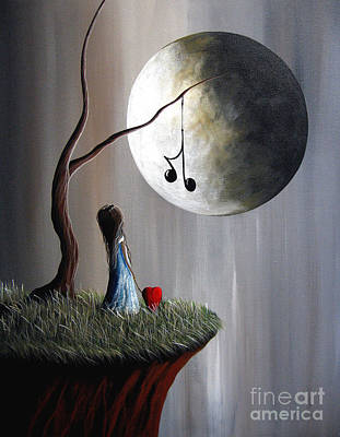 Big Moon Painting - Tree Of Promise By Shawna Erback by Shawna Erback