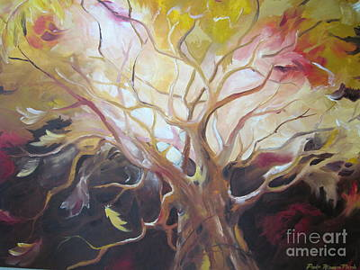 Wall Art - Painting - Tree Of Thought by Paula Marsh