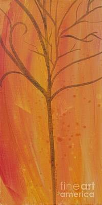 Painting - Tree Of Three Coral by Robin Maria Pedrero