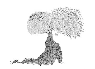 Drawing - Tree Of Uncertainty by Andrea Currie