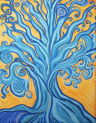 Surrealism Painting - Tree Of Water by Lola Lonli